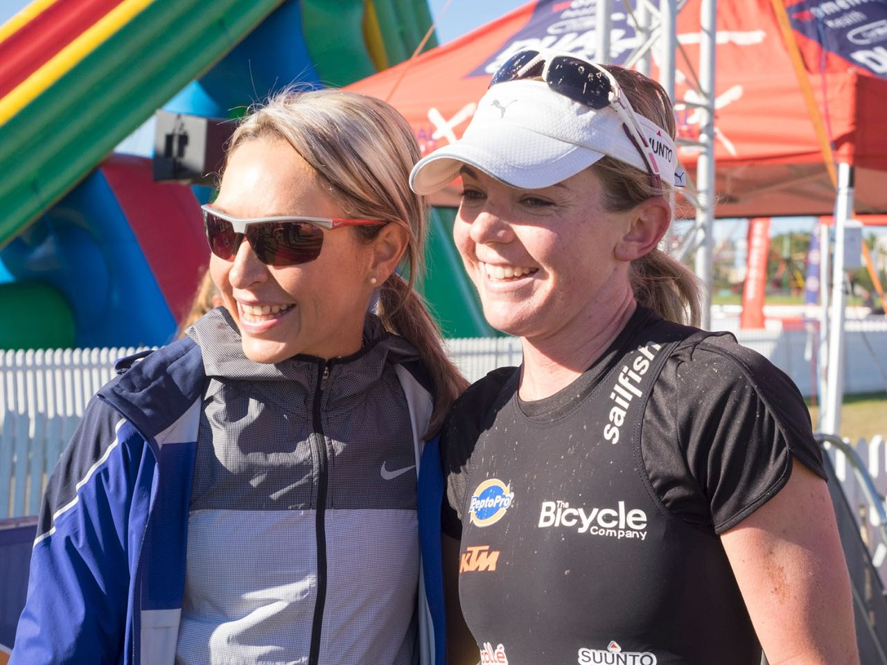 Comrades winner Charne Bosman, with ladies winner Andrea Steyn