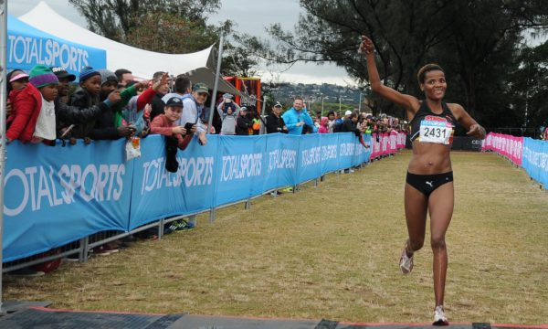 PUMA ambassadors, Lebogang Phalula and Yolande Maclean will celebrate National Women's Day at the Totalsports Women's Race in Johannesburg on Tuesday, 09 August 2016.  Seen here:  Lebogang Phalula in action at the Totalsports Women's Race in Durban on Sunday, 17 July 2016 where she secured the 2nd spot on the podium.  Photo Credit: Jetline Action Photo