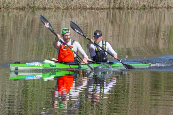 2015 Breede River Canoe Marathon winners Graeme Solomon (front) and Stu MacLaren (back) will team up with Greg Louw and Jasper Mocké respectively for this year's which takes place on 3 and 4 September with the two crews likely to go head-to-head for this year's title. John Hishin/ Gameplan Media