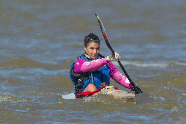 Century City/Pink Lady's Bianca Beavitt hopes the upcoming 2016 Breede River Canoe Marathon from Robertson to Swellendam in the Western Cape will serve as good distance training ahead of the ICF Canoe Marathon World Championships in Germany in September. John Hishin/ Gameplan Media