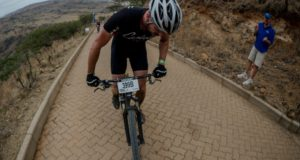 A rider makes his way up the lung-busting Spioenkop during the 2015 Grindrod Bank Berg & Bush event. This year Volvo will be sponsoring the prize money for the Volvo Summit - a 2km race up Spioenkop that will take place after the first day of riding at The Descent. The first male and female rider to reach the top will each receive R20 000. Image credit: Em Gatland