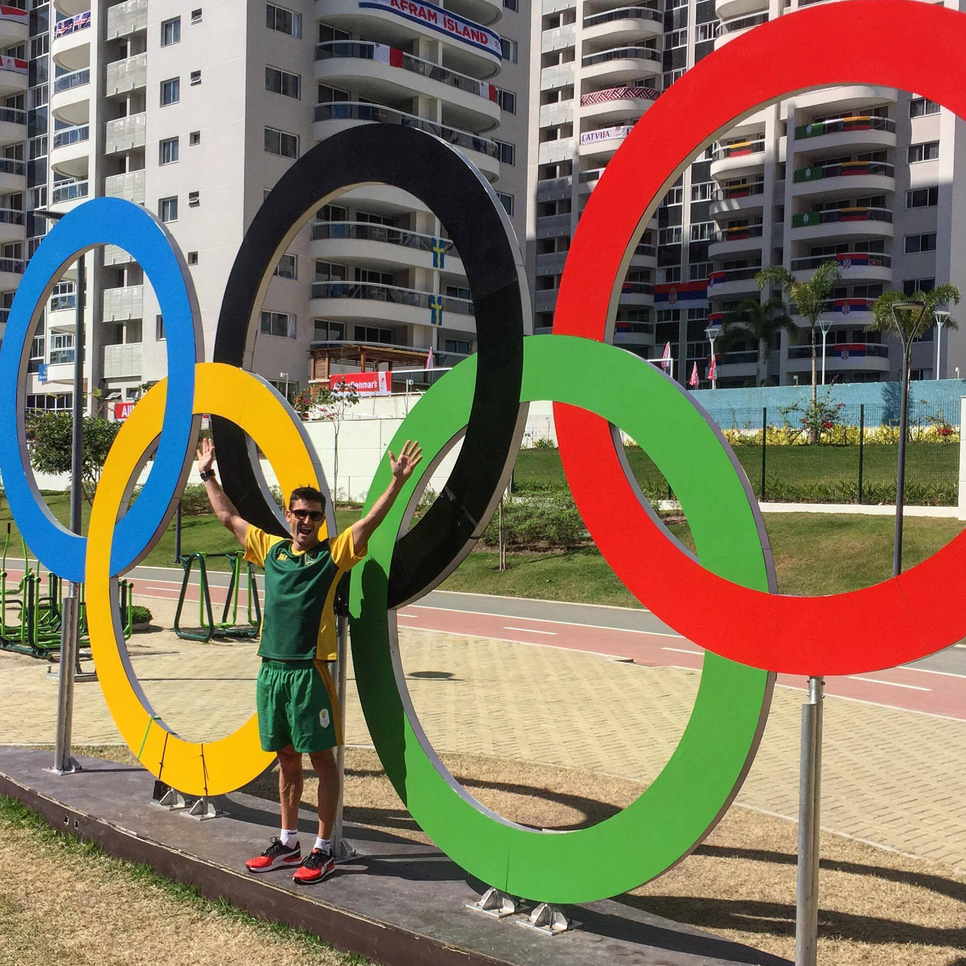 From not being able to lift his shoulder above 45 degrees in April to winning the World Duathlon Championship eight weeks later. And then in July having one of his best swims ever Richard Murray is as ready as he will ever be for the Olympic Games in Rio. Photo: Richard Murray in the Olympic Village.