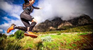 Trail running happiness will make you jump