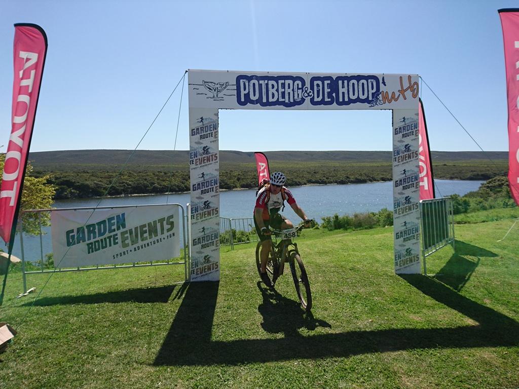 The race finish overlooked the stunning De Hoop Vlei. Photo by Seamus Allardice.
