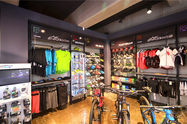 A full range of clothing and accessories are sold at THIS WAY OUT Cape Town, catering for mountain bikers, trail runners, yachtsmen and women and climbers.