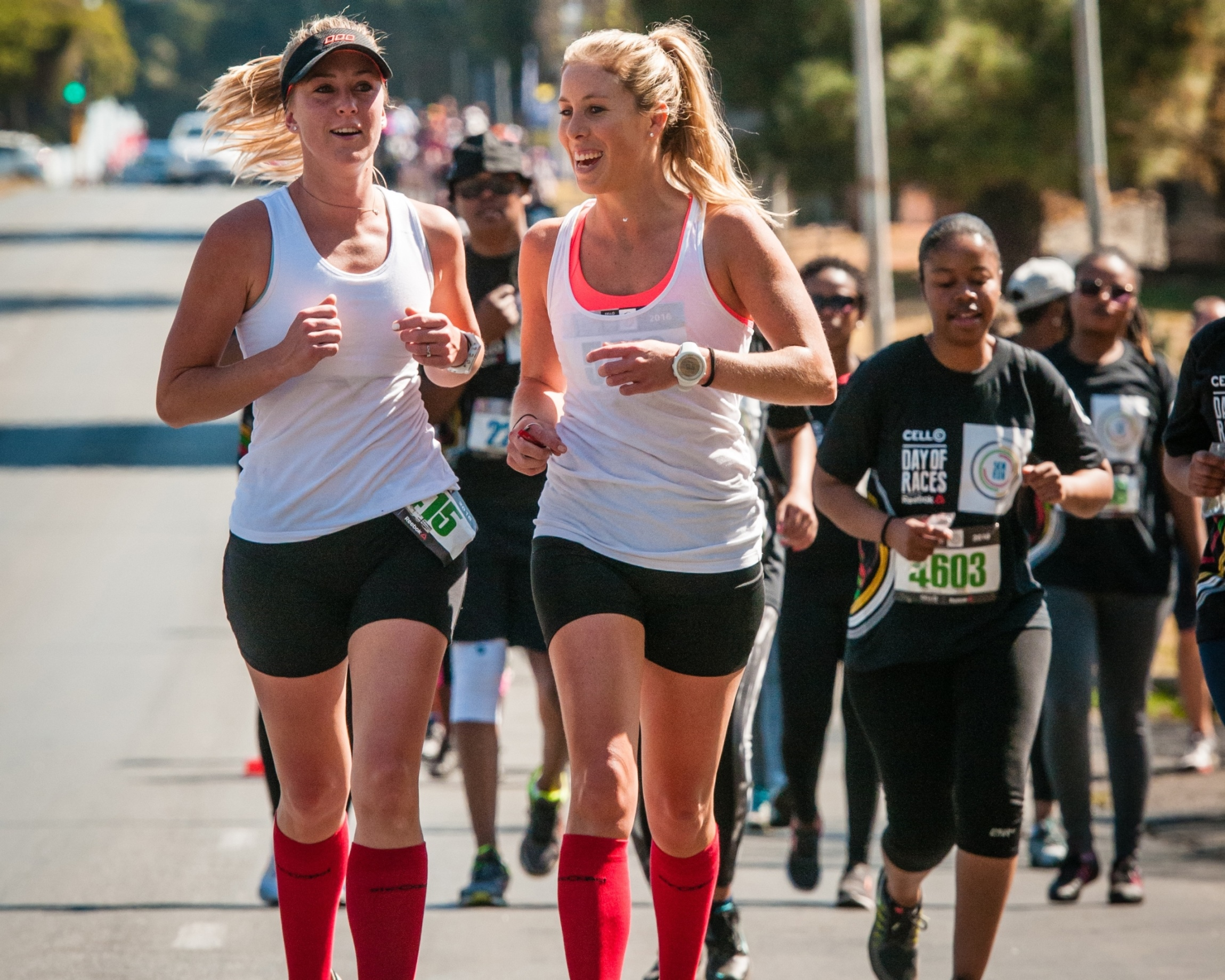The the Cell C Day Of Races powered by Reebok will celebrate its Cape Town debut at the Green Point Athletics Stadium this coming Sunday, 11 September 2016.  The theme of the event is 'find your fit'.  Entrants can choose between five exciting start waves:   1. pretty fit, 2. pace makers (50 years+), 3. sole mates (pairs), 4. young, fast & free and 5. anything goes.   The 6th and final wave, the elite race, will close off the day's racing and will be the source of much excitement. Seen here:  Runners and fitness enthusiasts in action at the Cell C Day Of Races powered by Reebok in Johannesburg at the end of August.  Photo Credit:  David Tarpey
