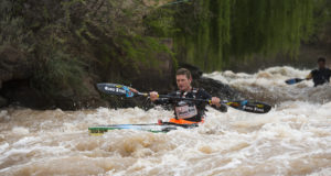 In a repeat of 2014, Euro Steel/Kayak Centre's Hank McGregor has a slight advantage over Andy Birkett after the first day of the 2016 Hansa Fish River Canoe Marathon from Grassridge Dam to Knutsford Farm on Friday. Anthony Grote/ Gameplan Media