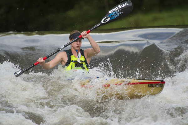 Euro Steel/Gara Racing Paddles' Abby Solms will be hard to beat in the women's race at the 2016 Hansa Fish River Canoe Marathon on Friday and Saturday. Anthony Grote/ Gameplan Media