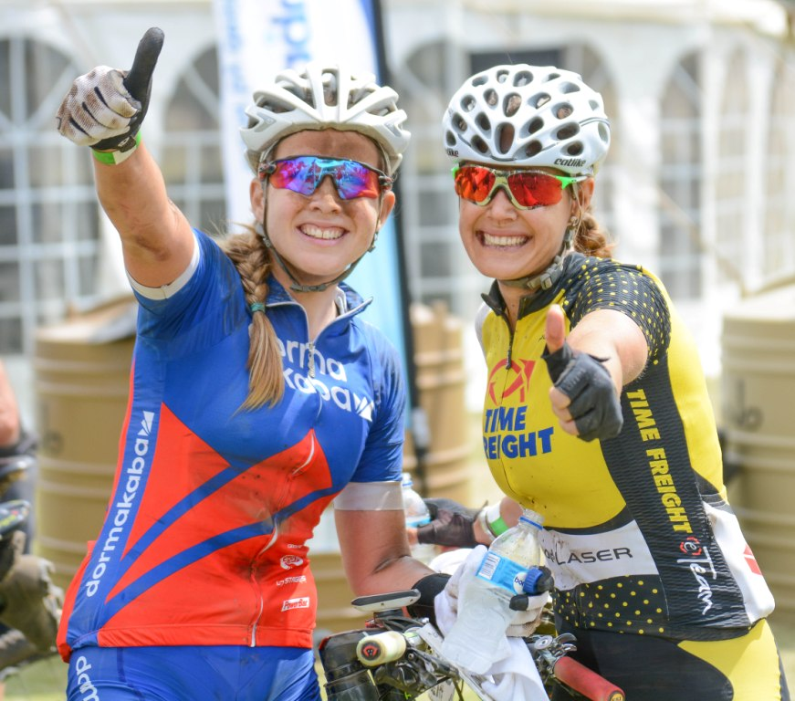 Candice Neethling and Vera Adrian (Dorma Time Freight) won the first stage of the 2016 Grindrod Bank Berg & Bush Descent women's race in a time of 03:57:55. They finished 1 minute and 45 seconds ahead of Jennie Stenerhag and Robyn de Groot of Team Ascendis Health. The 98km-long stage started at Windmall Farm in the Drakensberg and finished at Emseni Camp on the banks of the Tugela River.