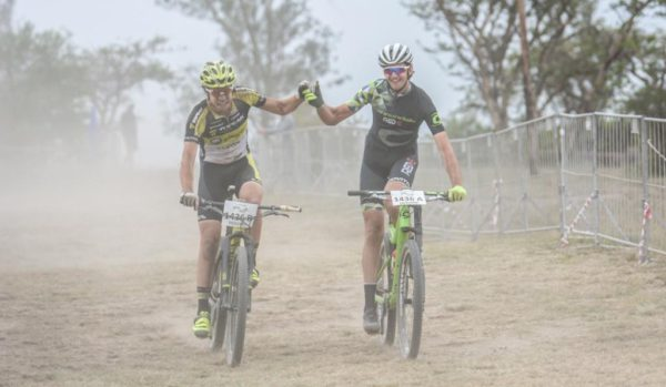 Erik Kleinhans and Matt Beers (Red E Topeak Ergon) claim victory at the 2016 Grindrod Bank Berg & Bush three-day stage race in KwaZulu-Natal. The pair saw off stiff competition from the cream of South African mountain biking to record a win on their debut at the event.