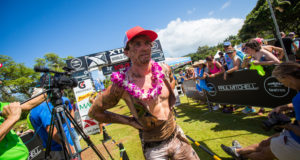 Bradley Weiss (Stellenbosch) secured an overall 13th place in the Elite Men's category of the XTERRA Off-Road Triathlon World Championship in Kapalua, Maui on Sunday, 23 October 2016. Seen here:  Weiss as he crossed the finish line.  Photo Credit:  Jesse Peters XTERRA