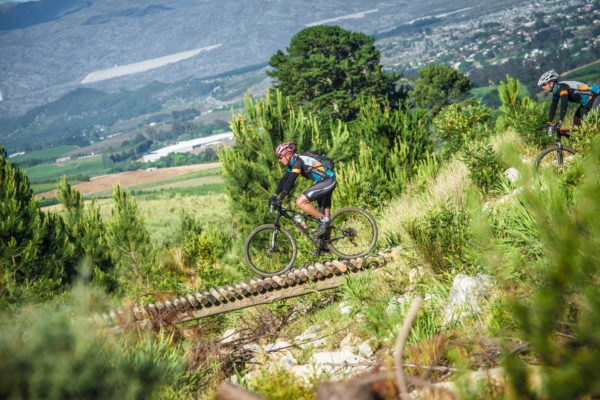 Affectionately known as Play Day, Event Organizers are proud to announce that the FNB Wines2Whales (W2W) Mountain Bike (MTB) Events Stage Two route will be the source of even more excitement in 2016.  Seen here:  A mountain biker in action during Stage Two of the 2015 FNB W2W MTB Events on Oak Valley Wine Estate (Elgin-Grabouw).  Photo Credit:  Tobias Ginsberg