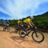 Nico Bell and Gawie Combrinck (in yellow) survived a difficult day of mechanicals to cling to their overall race lead during Stage 2 of the Cape Pioneer Trek international mountain bike stage race in George, South Africa on Tuesday Photo credit: www.zooncronje.com.