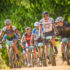 """The 4th annual Pennypinchers Origin Of Trails two day mountain bike (MTB) stage race will return to the picturesque City of Oaks on Saturday, 03 and Sunday, 04 December 2016.  """"Stellenbosch is a mountain biking mecca,"""" says Michael Meyer, Managing Director of Stillwater Sports.  """"After an intense season of racing we are excited to treat mountain bikers to an event that celebrates the fun side of mountain biking.  Whether an elite or social rider, all sporting enthusiasts are invited to enjoy their favorite sport in a social setting with family and friend.""""  Seen here:  South Africa's elite mountain bikers taking it easy on route,  enjoying the sport of mountain biking at the 2015 Pennypinchers Origin Of Trails two day mountain bike (MTB) stage race.  Photo Credit:  Tobias Ginsberg"""