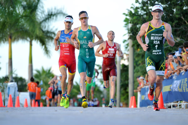 Photo: Richard Murray in action at the WTS Cozumel. Photo credit: Janos Schmidt, ITU