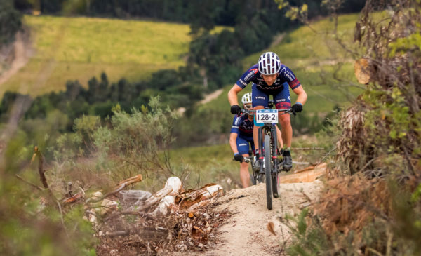 Riders during stage 3 of the 2016 Liberty Winelands MTB Encounter from Wellington to Wellington - 17 April 2016