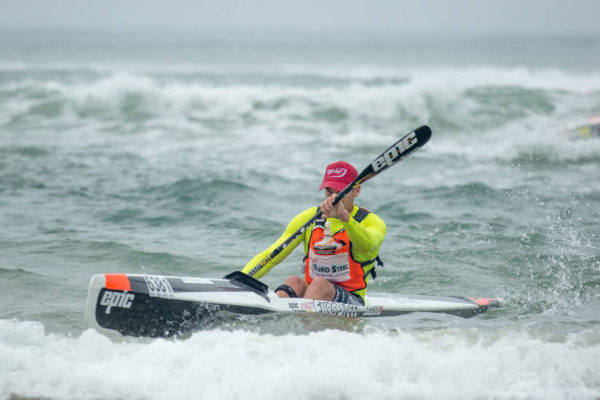 It was Euro Steel/Epic Kayak's Hank McGregor that was too strong for the field in the S1 and S2 races at at the 2016 Pete Marlin Surfski Race, which doubled as the South African Surfski Championships, in East London over this past weekend. John Hishin/ Gameplan Media