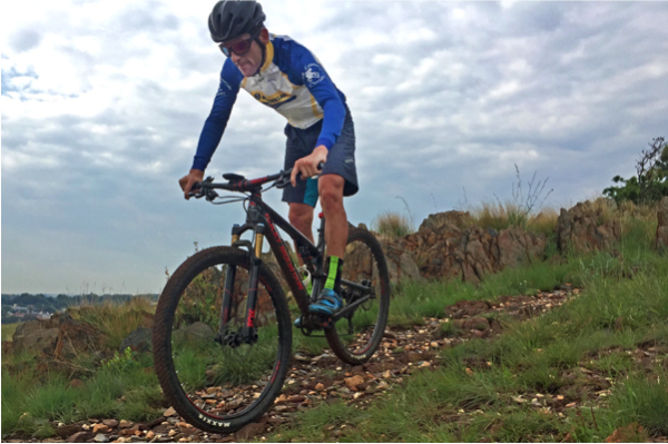 South African champion, Max Knox, gets familiar with the 2016 Rocky Mountain Element 990RSL in Johannesburg last week. Photo credit: Dino Lloyd