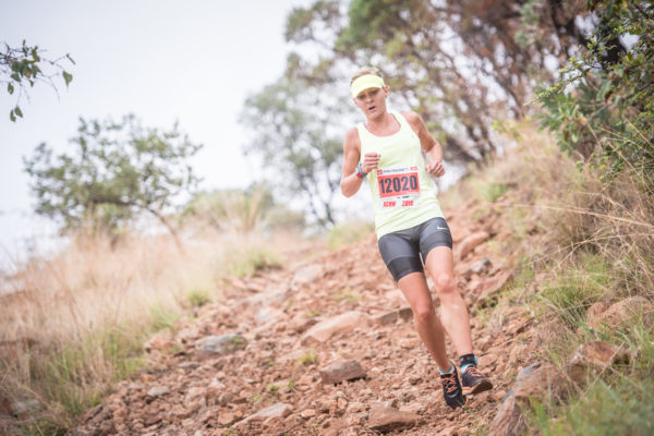 The XTERRA Trail Run will kick off at the beautiful Buffelspoort Dam (North West Province) this coming Sunday, 22 January 2017.  Seen here:  Adele Broodryk in action during the 2016 XTERRA Trail Run in Buffelspoort.  Photo Credit:  Tobias Ginsberg