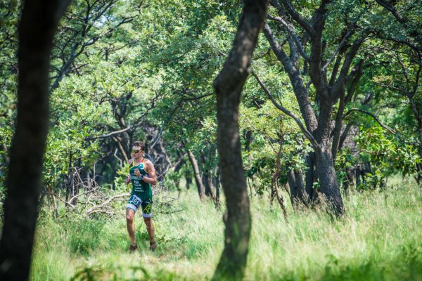 Brad Edwards and Nicolette Griffioen claimed gold at the first XTERRA race of the season, the Fedhealth XTERRA Buffelspoort in the North West Province on Saturday, 21 January 2017.  Seen here:  Brad Edwards in action on the day.  Photo Credit:  Tobias Ginsberg