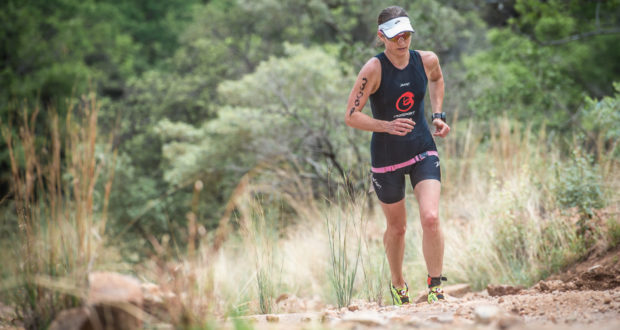 The 2017 XTERRA Racing Season will kick off on a high note at the magnificent Buffelspoort Dam (North West Province) the weekend of 20 – 22 January 2017. Seen here:  Carol Reeves in action on the trail run leg of the 2016 Fedhealth XTERRA Lite Buffelspoort.  Photo Credit:  Tobias Ginsberg