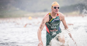 Taking place at the picturesque Eikenhof Dam in Grabouw on Sunday, 19 February 2017 the Sanlam Cape Mile has attracted the attention of a number of South Africa's leading triathletes including the likes of Bradley Weiss, Stuart Marais and Vicky van der Merwe.  Seen here:  Michael Lord in action at the 2016 Fedhealth XTERRA Grabouw SA Championship.  Photo Credit:  Tobias Ginsberg