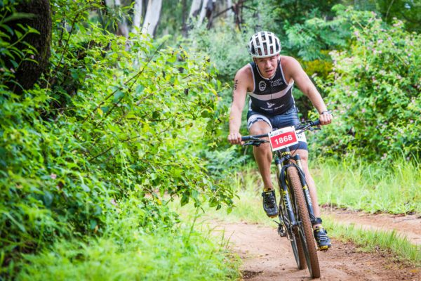 Cool weather greeted a spectacular field of adventure seekers at the start of the Fedhealth XTERRA Lite at the Buffelspoort Dam today (Sunday, 22 January 2017).  Nico Sterk obliterated the field in the men's race, crossing the finish line in 01 hour 15 minutes 47 seconds.  Hayley Preen was the lady to beat with an impressive finish time of 01 hour 29 minutes 59 seconds.  Seen here:  Nico Sterk in action on the day.  Photo Credit:  Tobias Ginsberg