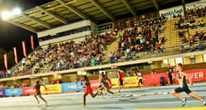 The PUMA School Of Speed Series heads to Cape Town this week with the second event (in a series of five) taking place at the Green Point Athletics Stadium on Wednesday, 18 January 2017.  Launched in November 2016, the series is committed to the development of athletics talent in South Africa by discovering the fastest young Speedsters.  The School of Speed is headed by the World's Fastest Man Usain Bolt, who has appointed reigning SA 100m champion Henricho Bruintjies as his Vice Principal in South Africa.  Seen here:  Athletes in action at the PUMA School Of Speed #1 that was held at the LC De Villiers Stadium in Pretoria in December 2016.  Photo Credit:  Kyle Cestari