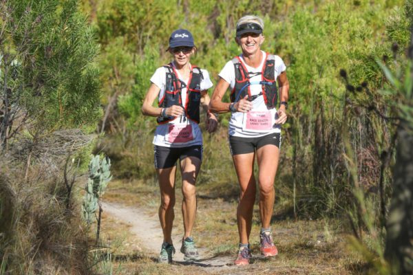 Partners in Crime, Jana Trojan & Tracy Forbes in action during Stage 2 of the Tankwa Trail on the 18th of February. Photo by Oakpics.com.