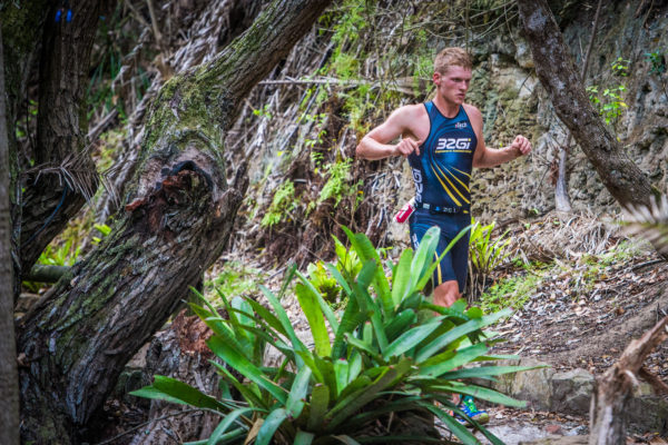 Keegan Cooke and Johandri Leicester obliterated the field at the 2017 Fedhealth XTERRA Lite in Nelson Mandela Bay on Sunday, 12 February 2017.  Cooke crossed the finish line in a combined time of 01 hour 06 minutes 23 seconds, while Leicester secured gold in 01 hour 18 minutes 16 seconds.  Seen here:  Keegan Cooke in action on the day.  Photo Credit:  Tobias Ginsberg
