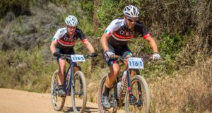 Mountain biking pro Pieter Seyffert (front) will team up with Travis Walker to ride for Ellsworth-ASG in the seven-day TransCape mountain bike race from Sunday. Photo: Warren Elsom