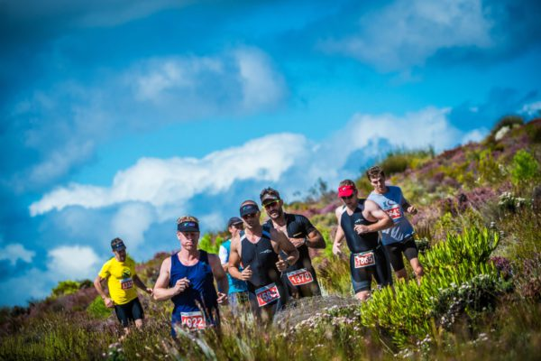 Multisport athletes taking part in the Fedhealth XTERRA South African Championship, the largest XTERRA in the world, at the picturesque Grabouw Country Club this coming weekend (24 – 26 February 2017) can look forward to a World Class experience.  Seen here:  XTERRA Warriors in action during the trail run discipline of the 2016 Fedhealth XTERRA South African Championship.  Photo Credit:  Tobias Ginsberg