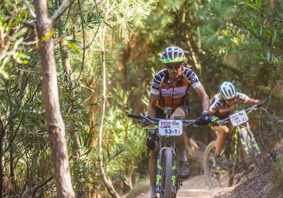 Esther Süss and Jenny Stenerhag on their way to win stage 4 of the 2017 Absa Cape Epic Mountain Bike stage race from Elandskloof in Greyton to Oak Valley Wine Estate in Elgin, South Africa on the 23rd March 2017 Photo by Dominic Barnardt/Cape Epic/SPORTZPICS