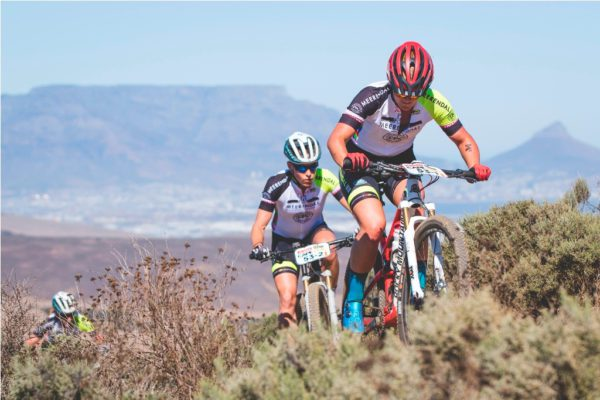 Hielke Elferink and Cornelia Hug, of Meerendal CBC 2, dig deep up the Dorstberg during the Prologue of the 2017 Absa Cape Epic. Photo by Ewald Sadie/Cape Epic/SPORTZPICS Photo by Ewald Sadie/Cape Epic/SPORTZPICS PLEASE ENSURE THE APPROPRIATE CREDIT IS GIVEN TO THE PHOTOGRAPHER AND SPORTZPICS ALONG WITH THE ABSA CAPE EPIC ace2016