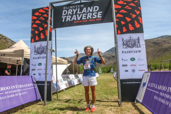 Robert Rorich provided entertainment on and off the trail; running to a superb overall victory and partying up a storm at the 2016 Dryland Traverse. Photo by Oakpics.com.
