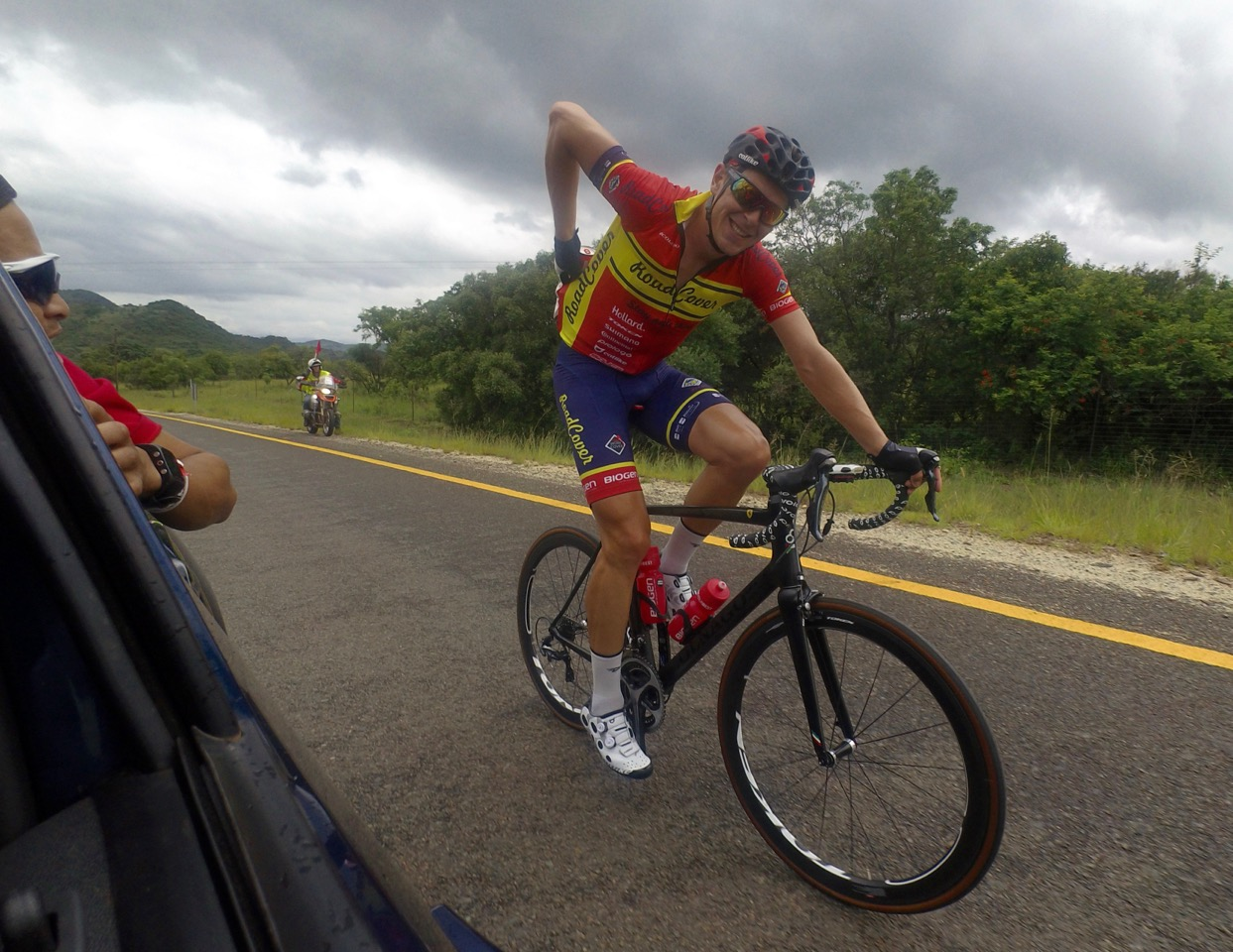 Bradley Potgieter, of RoadCover, won the 27th Kremetart Tour in Louis Trichardt last year. Photo: Nic White