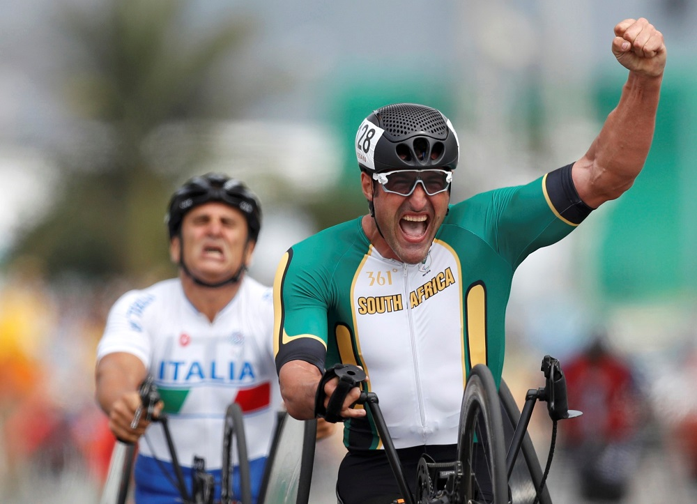 Rio Paralympics handcycle road race champion Ernst van Dyk will address the Provincial Sport Conference in George on Friday and Saturday from the athlete's perspective. Photo: Supplied