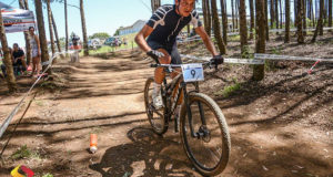 Stuart Marais, pictured here winning a recent KZN MTB cross country race, is leading the Quattro ROAG Series after winning the opening event at Wartburg.