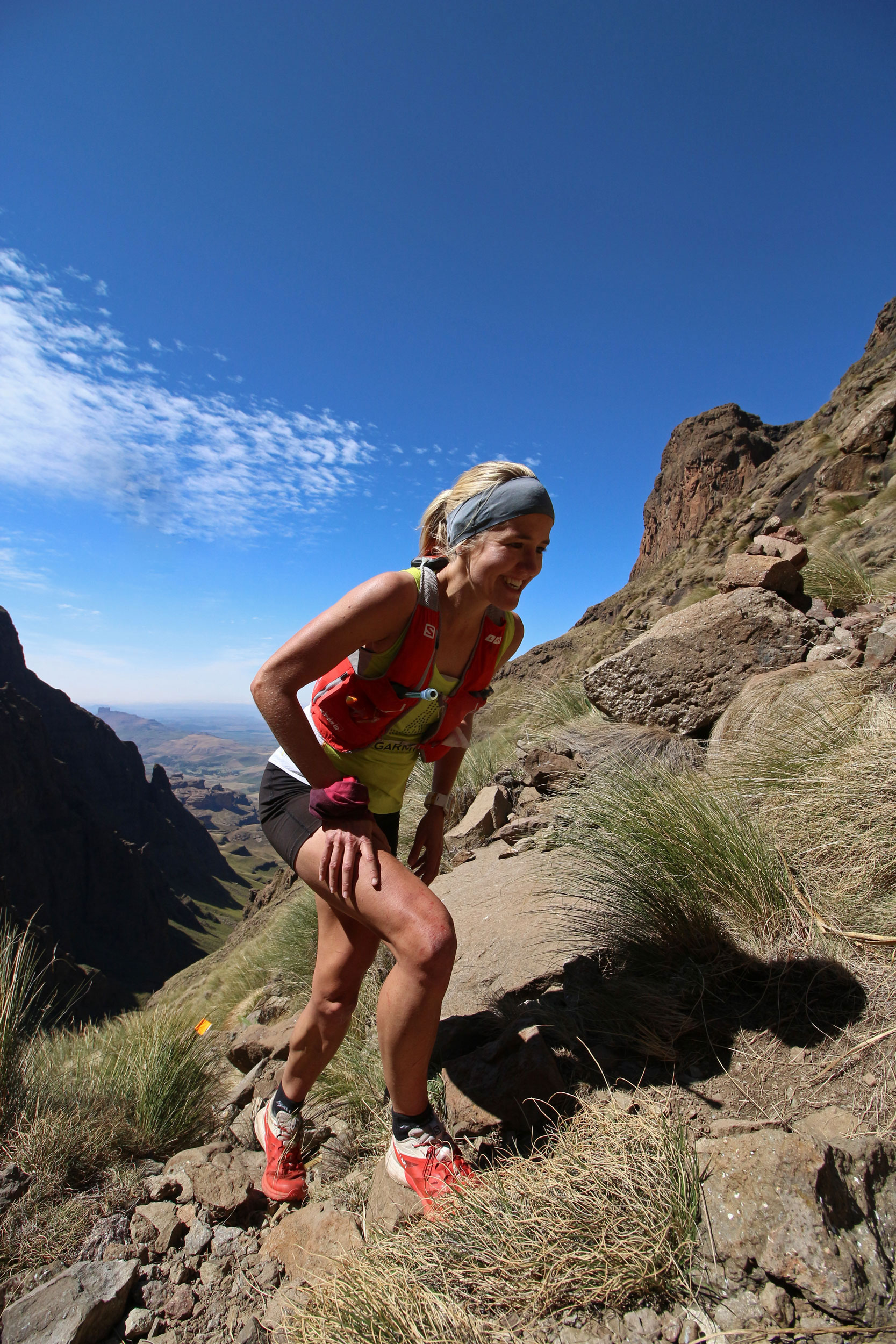 Salomon/KPMG's Landi Greyling will take on the 62km Giants Cup Uncut as part of her preparations for the Ultra-Trail® Mont Blanc when she takes on the inaugural Ultra-Trail® Drakensberg on Saturday, 29 April.  Anthony Grote/ Gameplan Media