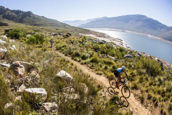 Riders during stage 1 of the 2016 Liberty Winelands MTB Encounter from Stellenbosch to Franschoek - 15 April 2016