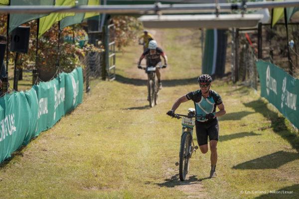 One of joBerg2c's finest runs himself into Mackenzie Club race village after his bike suffered a mechanical failure.  Em Gatland