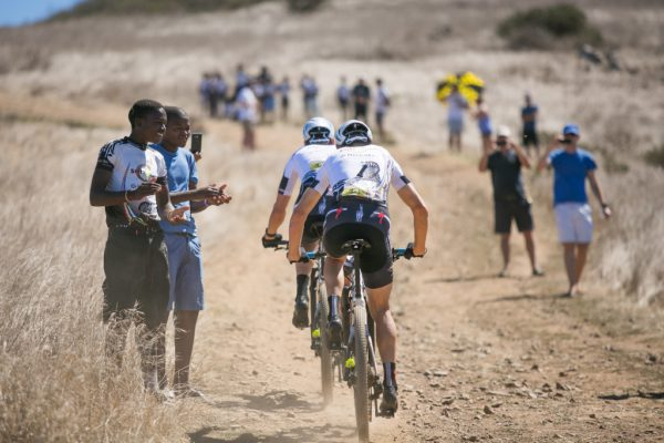The songo.info charity was founded by Christoph Sauser and Songo  Fipaza to uplift the children of Kayamandi, in Stellenbosch, through education and sport. Photo by Mark Sampson/Cape Epic/SPORTZPICS.