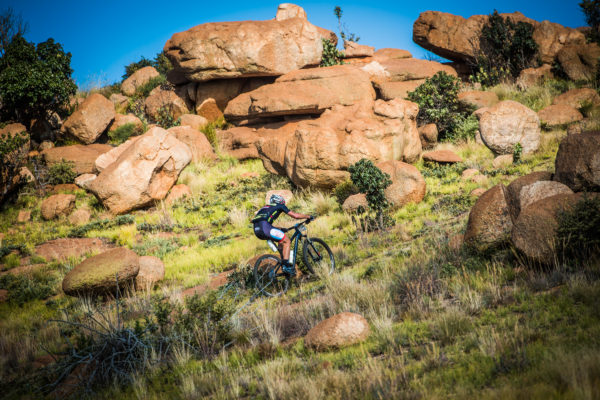 North West Province – The picturesque Magaliesberg will be in the limelight this coming weekend as eager mountain bikers and trail runners line up to participate in two prestigious off road events, the FNB Magalies Monster MTB Classic (Saturday, 03 June 2017) and the FNB Platinum Trail Run (Sunday, 04 June 2017) at the ATKV (Buffelspoort).  Seen here:  Eager mountain bikers in action at the 2016 FNB Magalies Monster MTB Classic.  Photo Credit:  Tobias Ginsberg