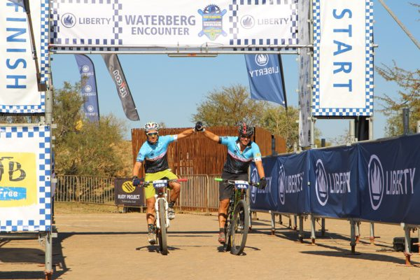 Gertjie Harmse (right), who won last year alongside Devan Kruger, will defend his title at this year's Liberty Waterberg Encounter, in partnership with STANLIB. Photo: Gerrie Kriel