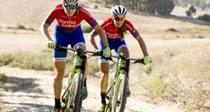 The Team dormakaba duo of Candice Lill (left) and Vera Adrian (right) were the beneficiaries of some poor navigational skills as they won the 2016 KAP sani2c and they will be hoping that they can produce another well-rounded display to win a second consecutive title when the 2017 Race gets underway on Thursday, 11 May.