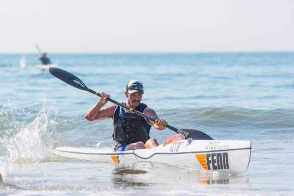 Nelo Kayaks/Jantext Paddles' Brandon van der Walt took homes the overall title at the Bay Union King of the Bay, race two of the 2017 Bay Union Surfski Series. Anthony Grote/ Gameplan Media