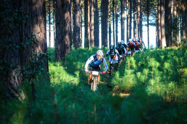 Singletrack is limited to short sections at the Glacier Storms River Traverse to keep the riding non-technical and ensure you can ride two abreast and chat throughout the stages. Photo by Oakpics.com.
