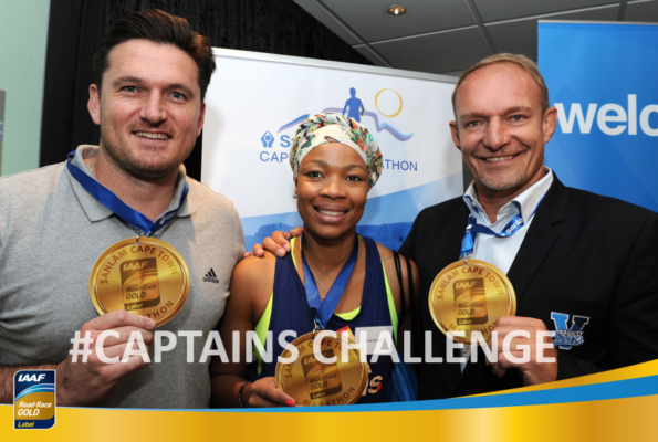 Former Proteas cricket captain Graeme Smith, retired Proteas netball captain Zanele Mdodana, and Former Springbok rugby captain Francois Pienaar
