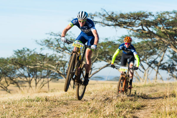 Team TIB's Andrew Hill (front) has tamed many trails around KwaZulu-Natal but has never won the Illovo Eston MTB Challenge, and he is hoping to change that when the event takes place on Sunday, 6 August. Anthony Grote/ Gameplan Media