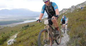 Former Springbok rugby captain John Smit, seen here in action at Wines2Whales, will be making his maiden appearance alongside teammate Shane Chorley in the TransCape mountain bike race next year. Photo: Jetline Action Photo